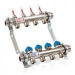 4 circuit underfloor heating manifold