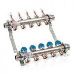 5 circuit underfloor heating manifold